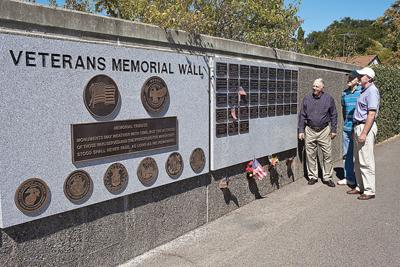Veterans Wall at Tulocay Cemetery