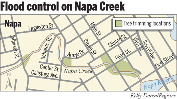 Napa Creek work means detours loss of parking Local News