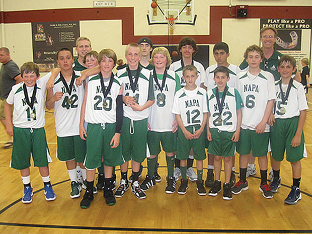 NVBA seventh-graders team