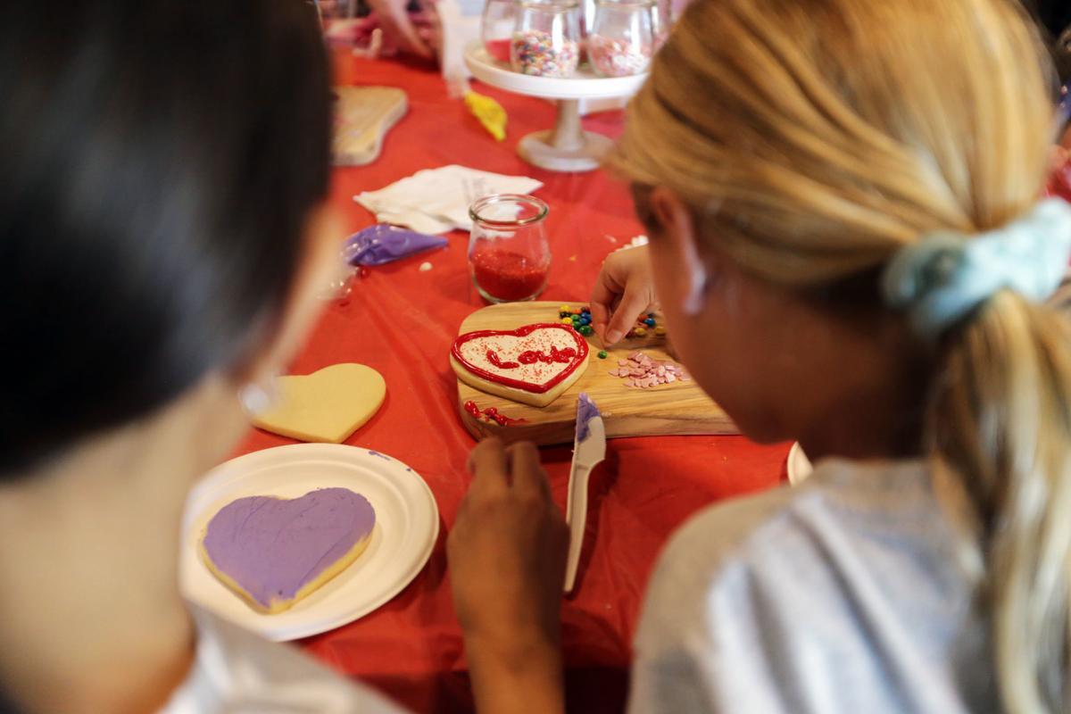 Valentine's Day cookies at Vista Collina Resort
