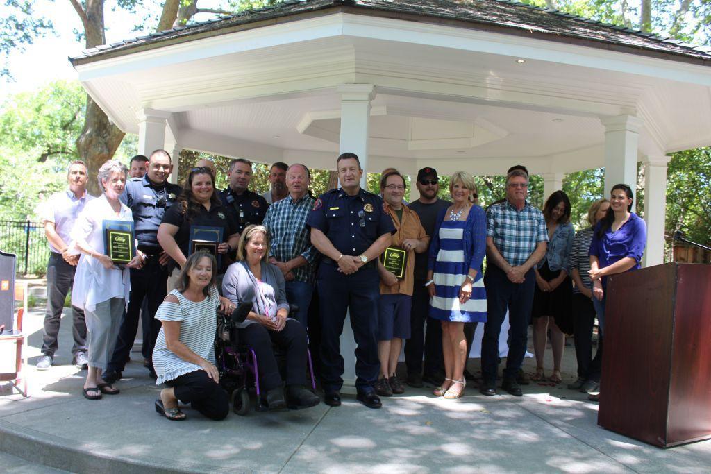 2018 Calistoga Community Award winners