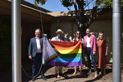 St. Helena raises Progress Pride Flag