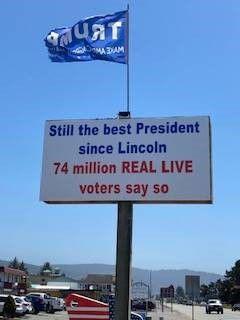 Pro-trump sign