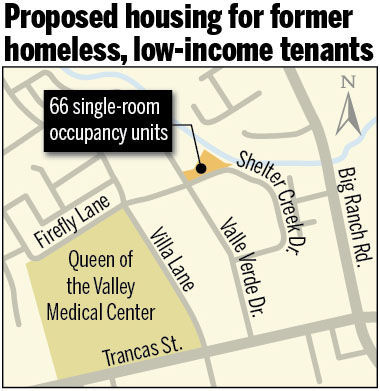 Proposed housing for former homeless, low-income tenants