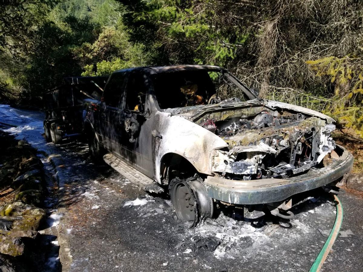 Calistoga truck fire