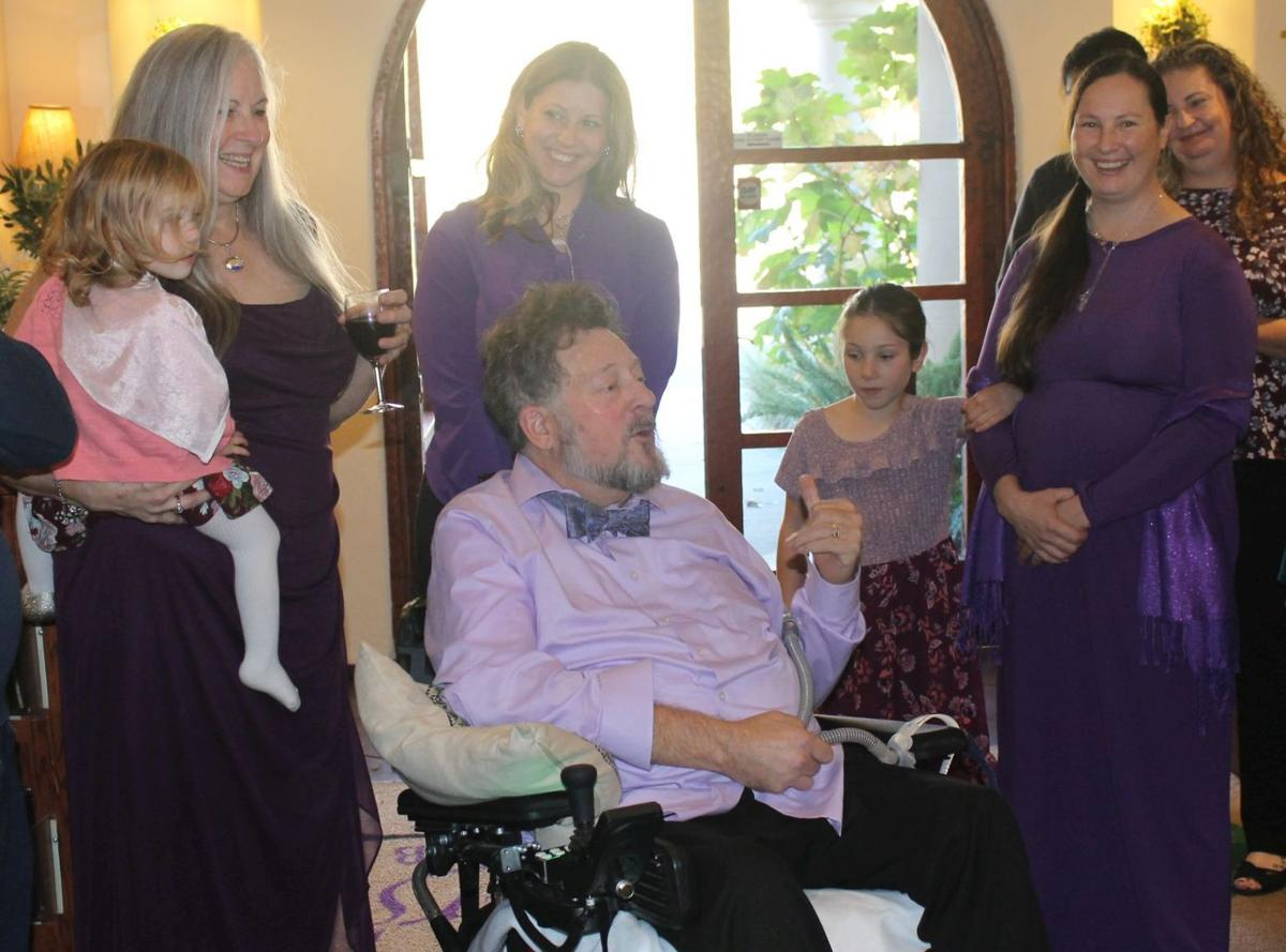 Doug Ernst surrounded by family