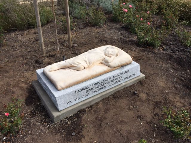 A marble marker at Tulocay Cemetery may need to be revised after questions arose about who the marker really belongs to