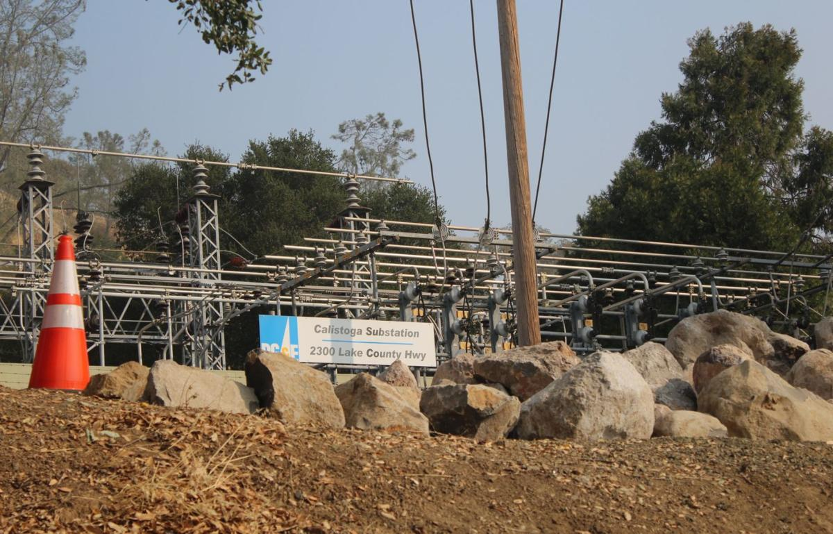 PG&E Calistoga substation