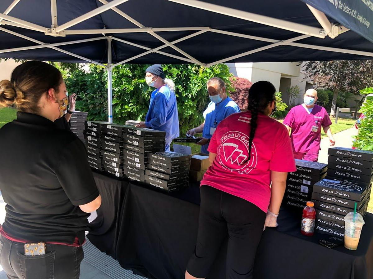 Pizzas for hospital workers