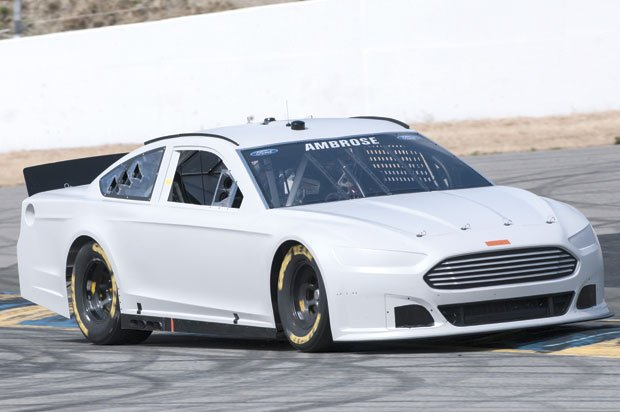 Marcos Ambrose tested his new Gen-6 Ford Fusion