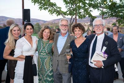 Lydia Mondavi, Cristina Hudson, Janet  Trefethen, Tim Mondavi, Susie Romak and Lee Hudson at the Sept. 22 Queen of the Valley Foundation Generous Heart fundraiser