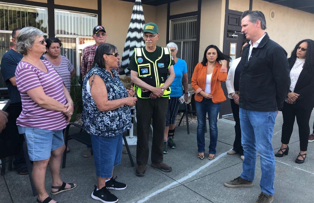 Gov. Gavin Newsom visits Napa County ahead of PG&E shutoffs