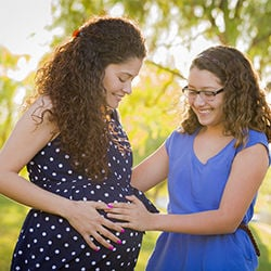 Mom Pregnant with Daughter