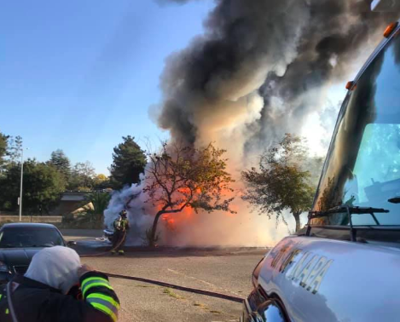 Napa Fire Department motor home fire