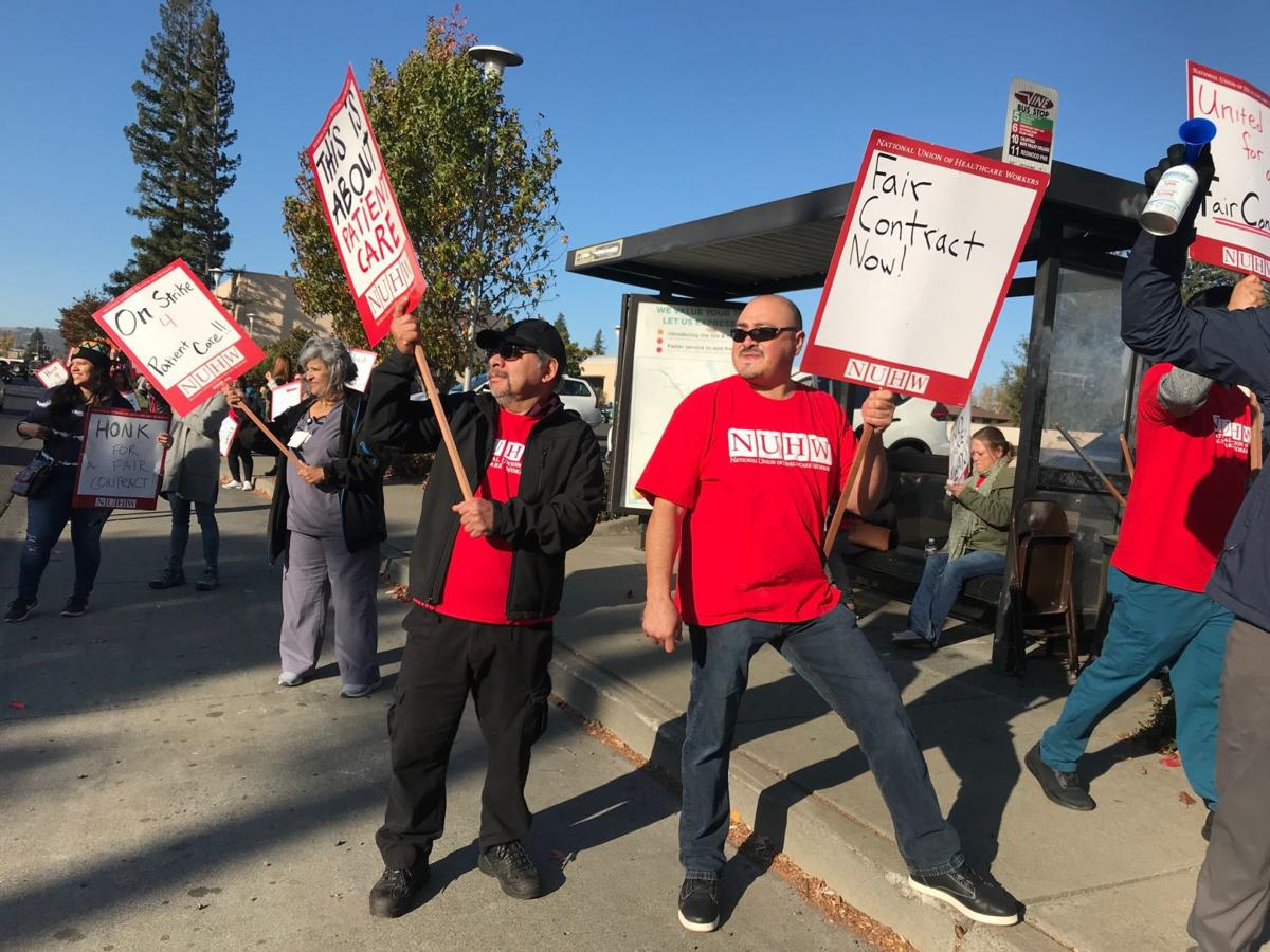 Queen of the Valley Medical Center strike 2019