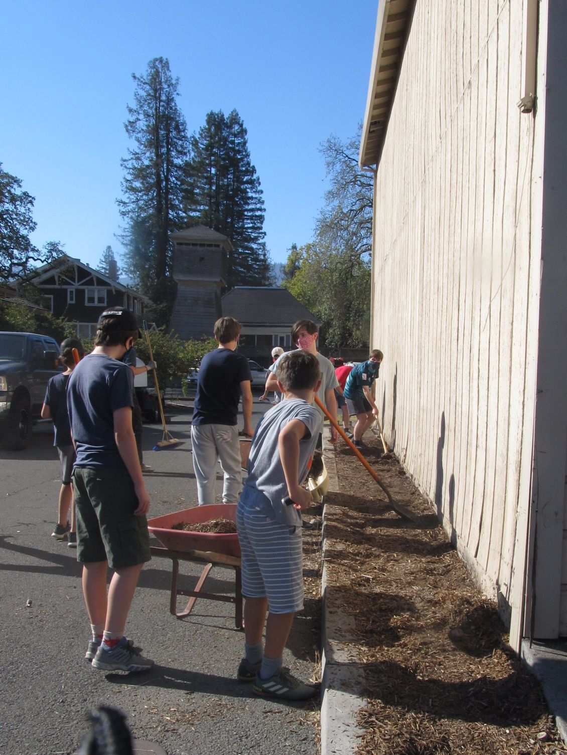Scouts clean up St. Helena's Scout Hall