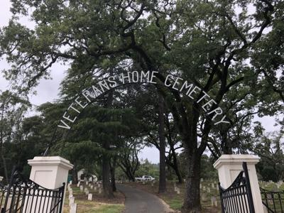 Volunteer gravestone cleanup at the Yountville Veterans Home
