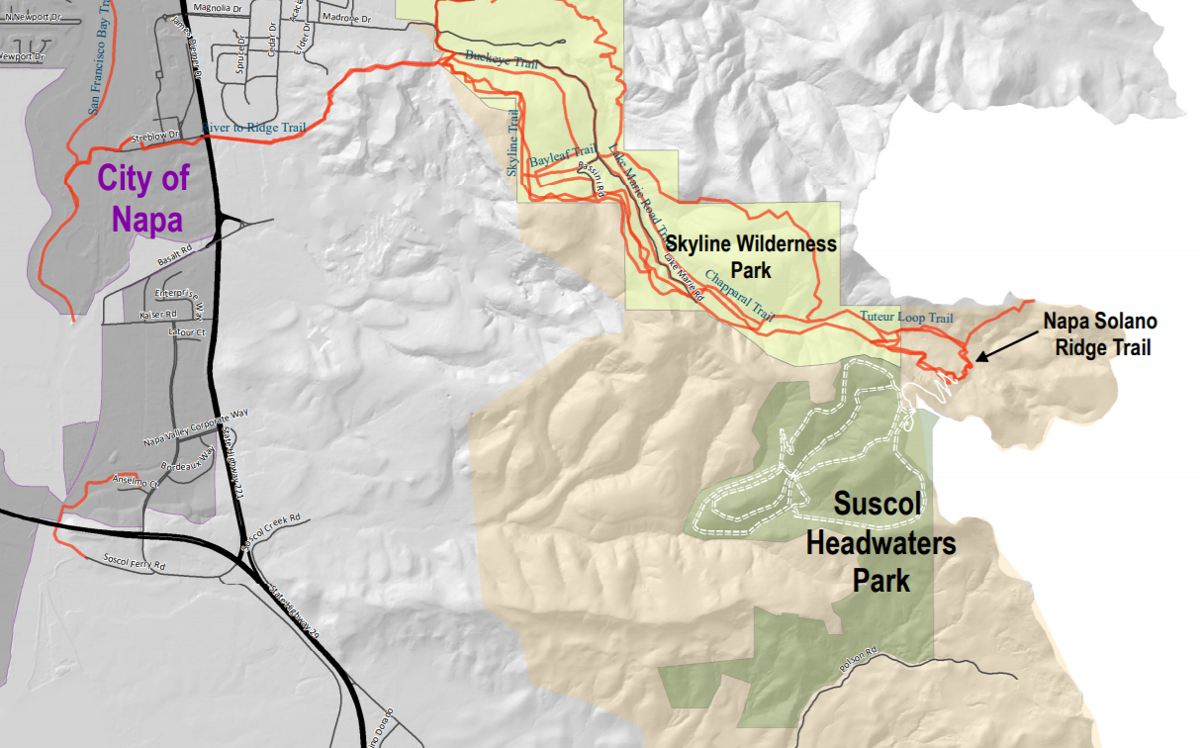 Suscol Headwaters Park map