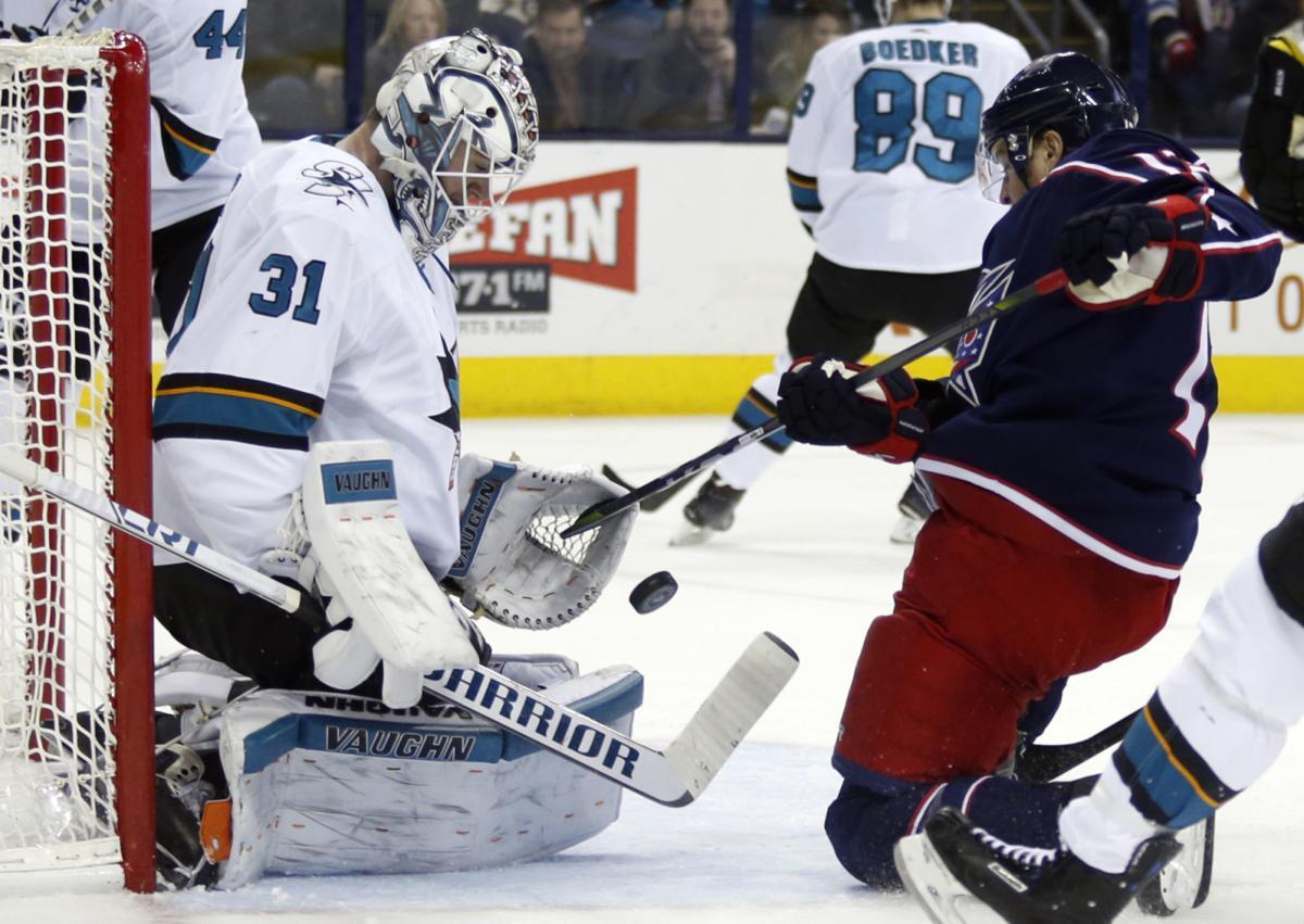 Sharks Blue Jackets Hockey