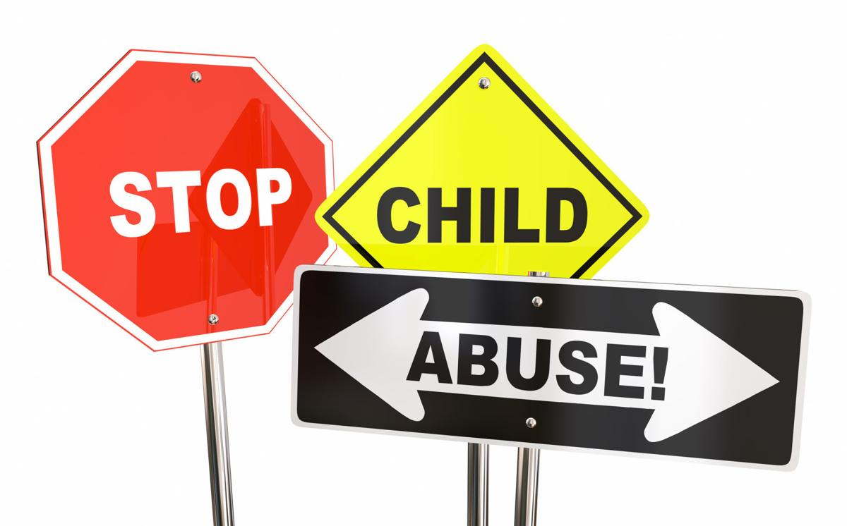 Stop Child Abuse Violence Kids Signs 3d Illustration