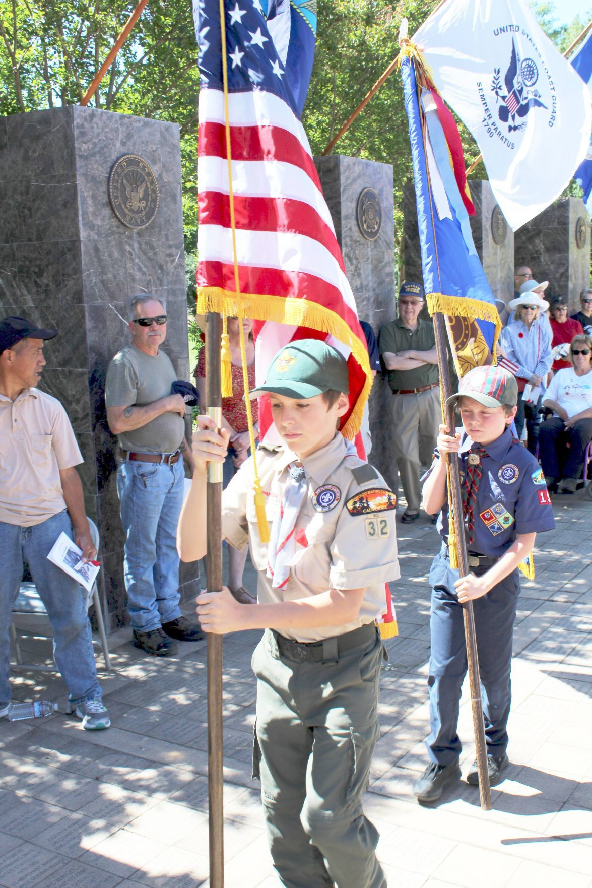 Presentation of the Colors at Logvy Community Park in Calistoga on Memorial Day