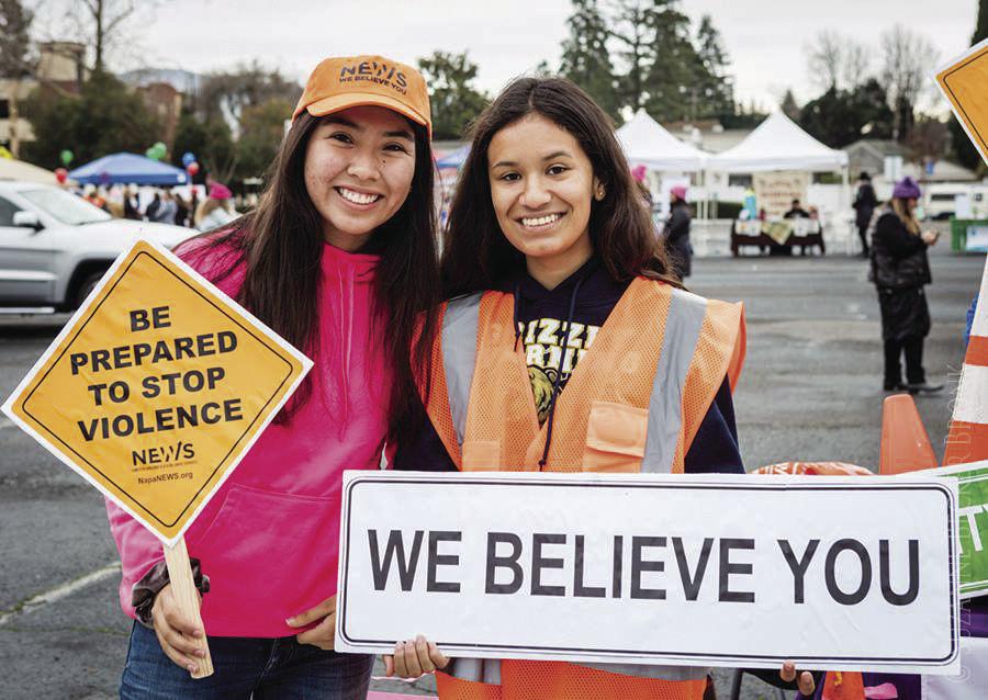 NEWS volunteers women's march