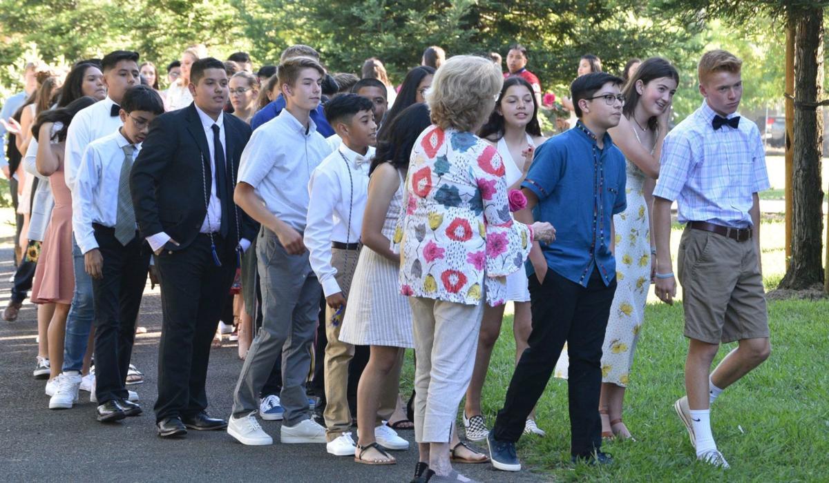 Eighth graders at Robert Louis Stevenson Middle School