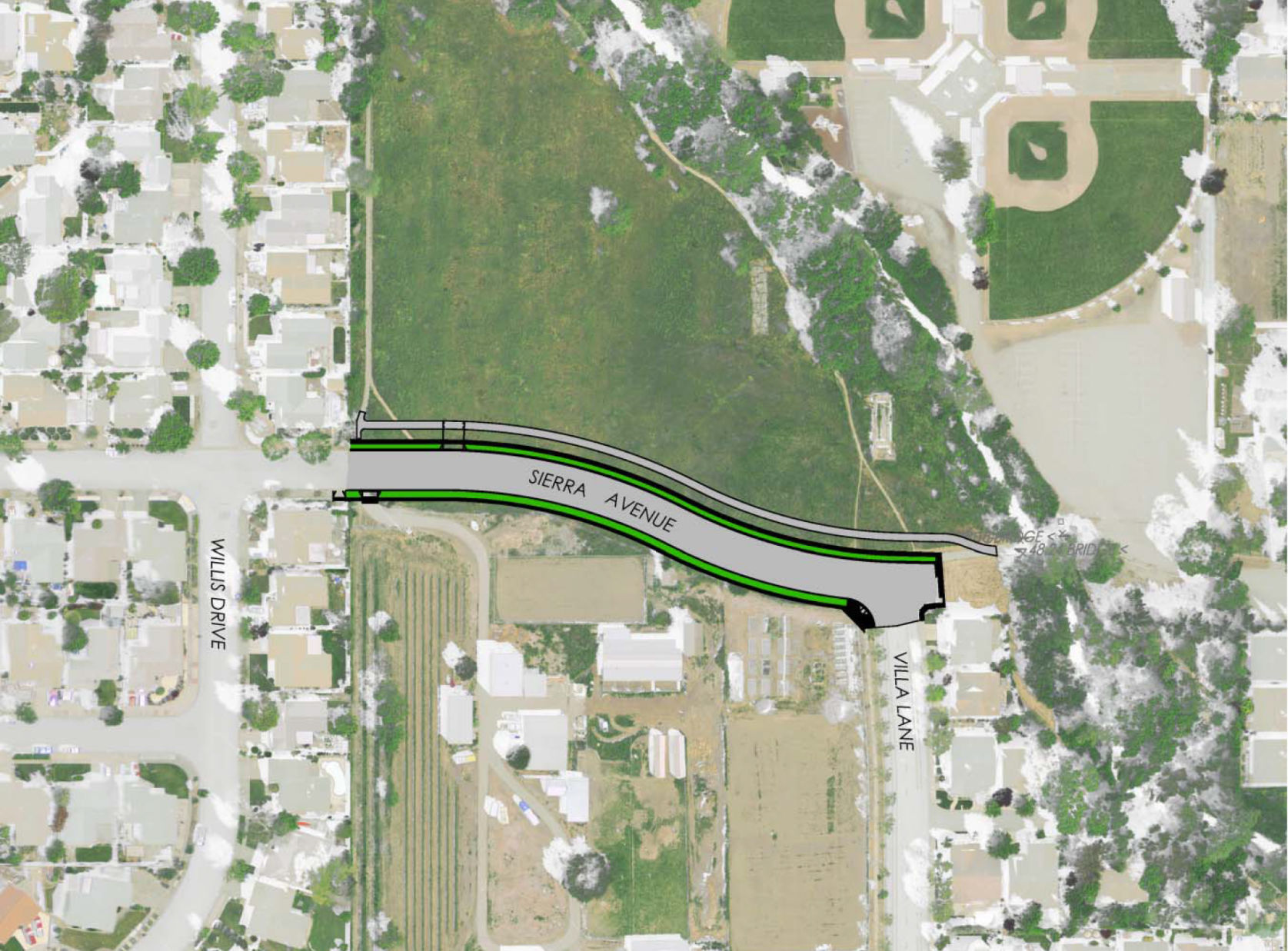 Sierra Avenue extension map Napa council approves