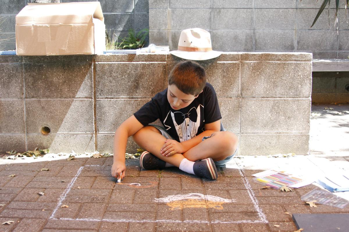 Street painting at the Napa Valley Museum
