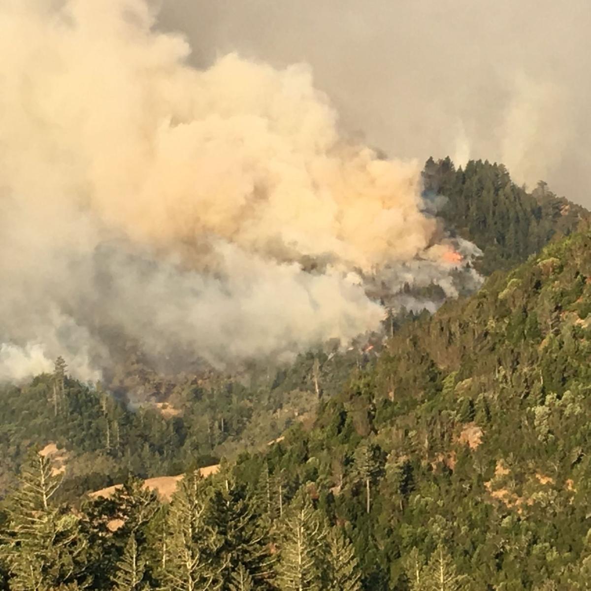 Smoke from Mount St. Helena