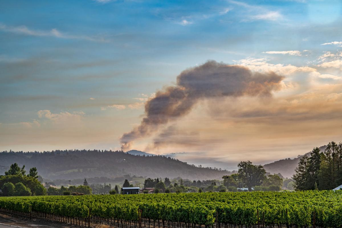 Hennessey fire, Tuesday 8 a.m.