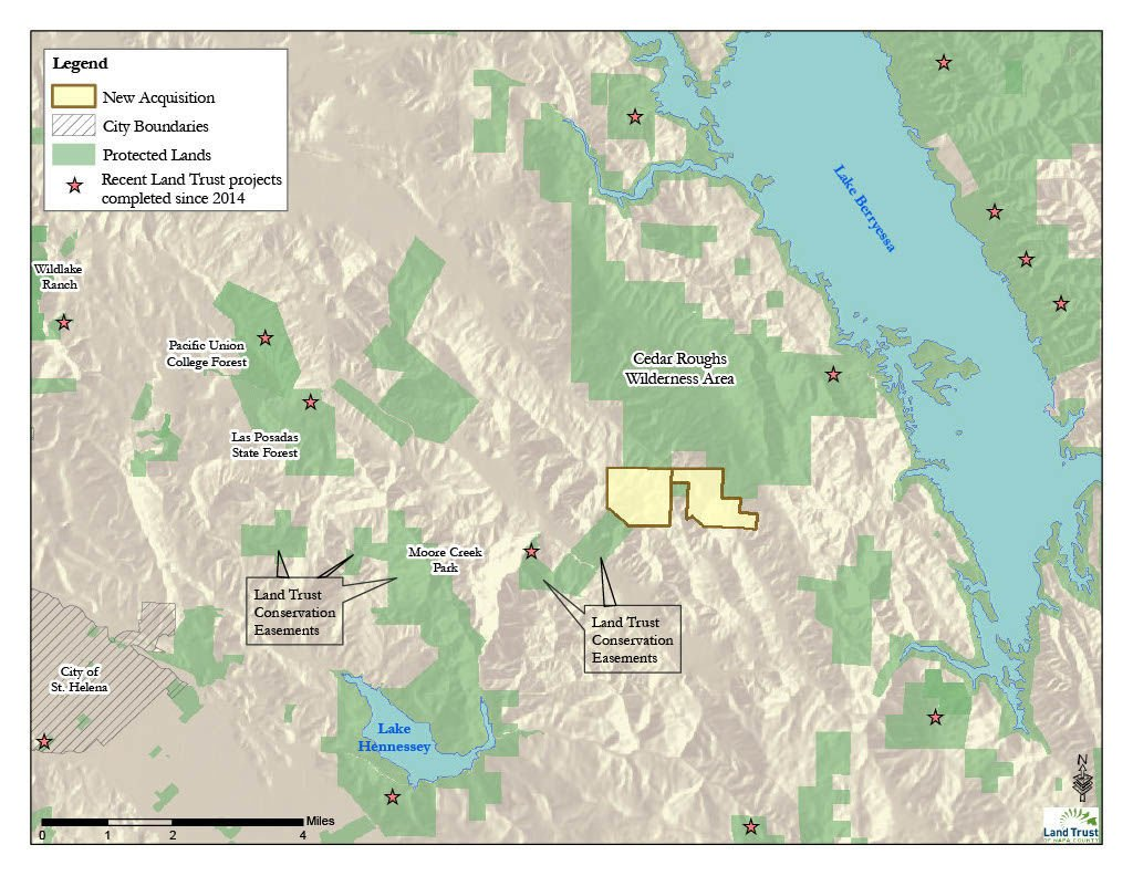 Land Trust holdings near Lake Berryessa