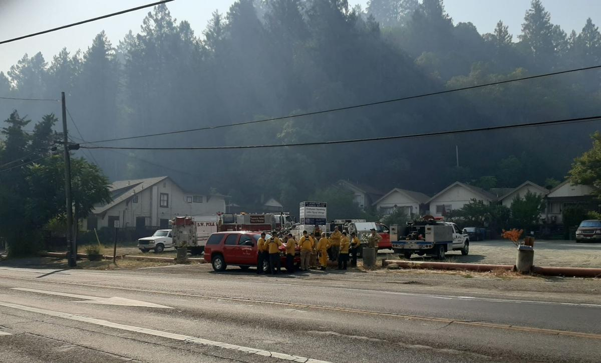 Calistoga firefighters Glass Fire