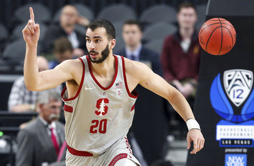 Stanford rolls over Cal 76-58 at Pac-12 tourney