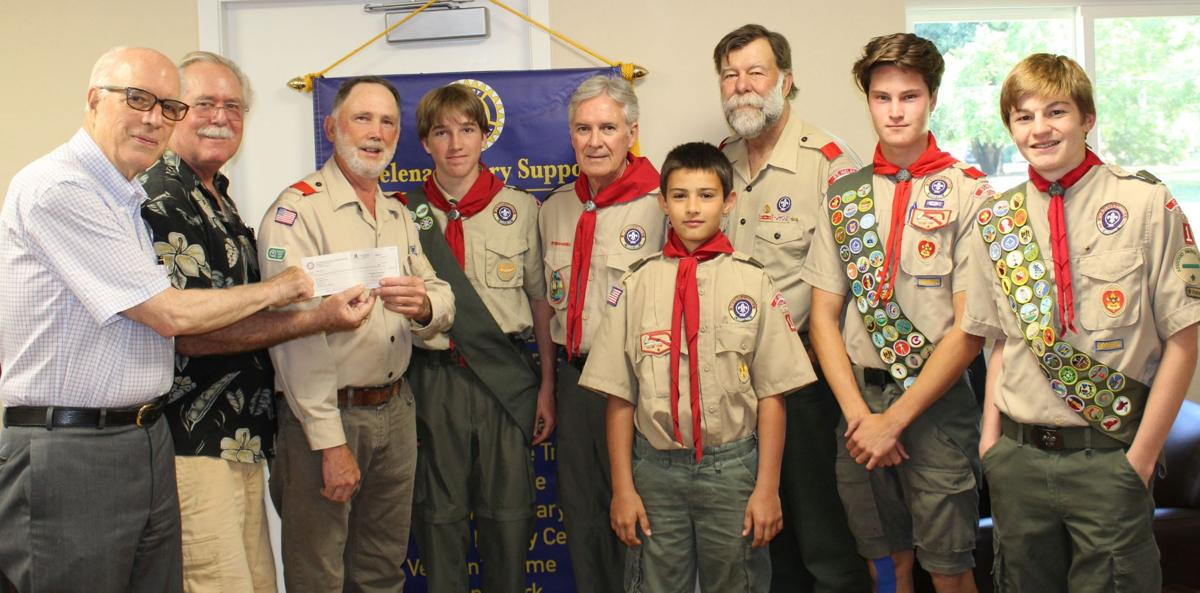 Scouts receive $1,000 from Rotary Club