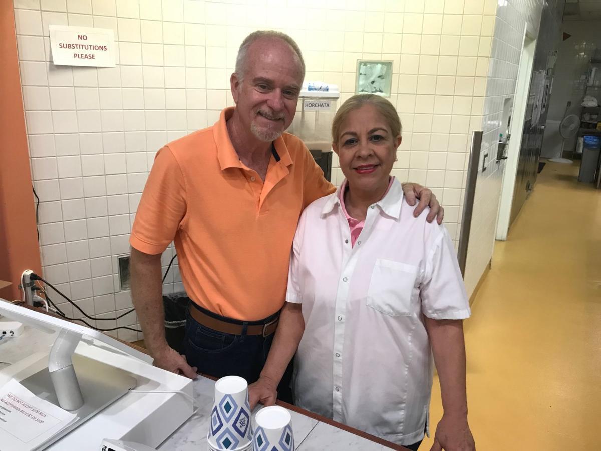 Francisco and Rina Putzeys at Fresh A-Mex restaurant in Napa