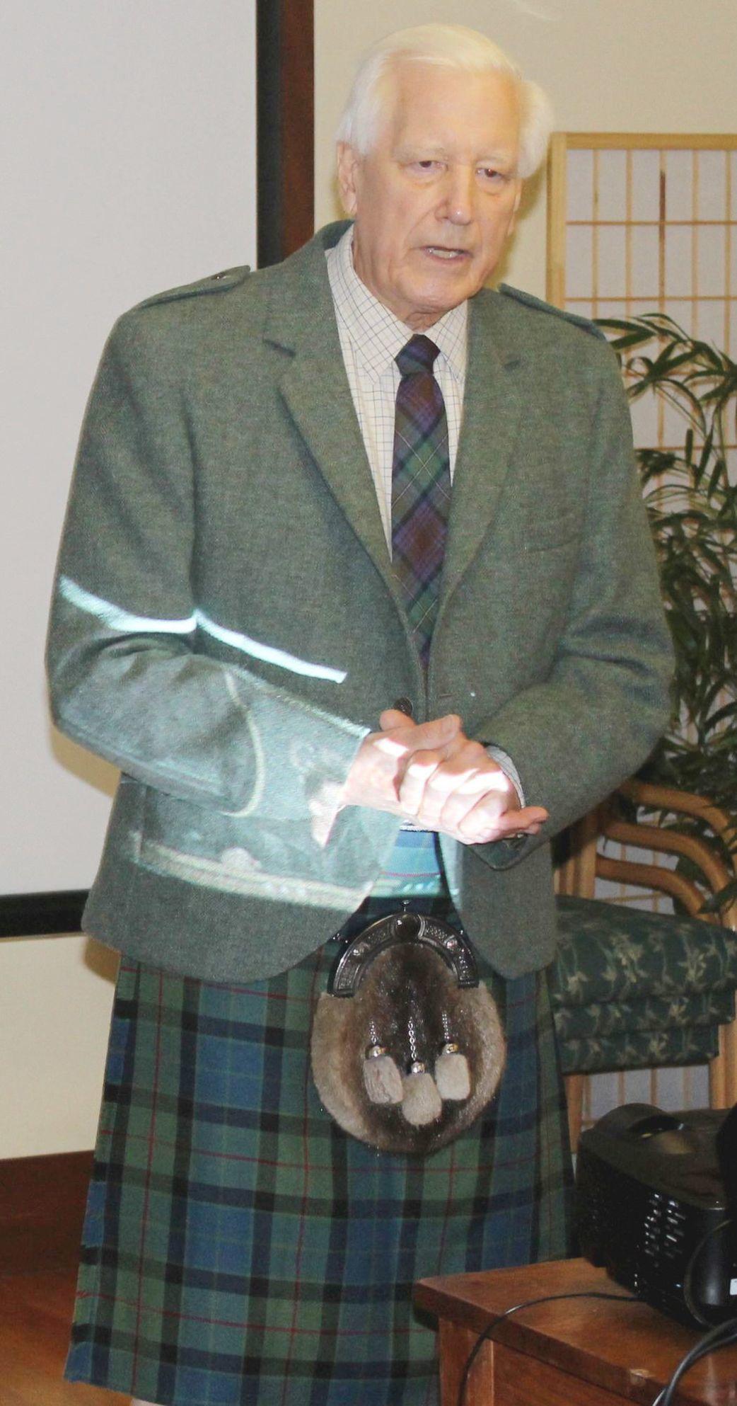 John Wilson at St. Helena's Rianda House Senior Activity Center