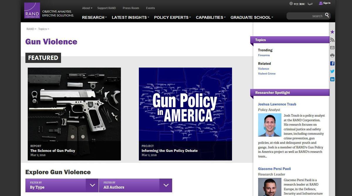 RAND Corporation Gun Violence report