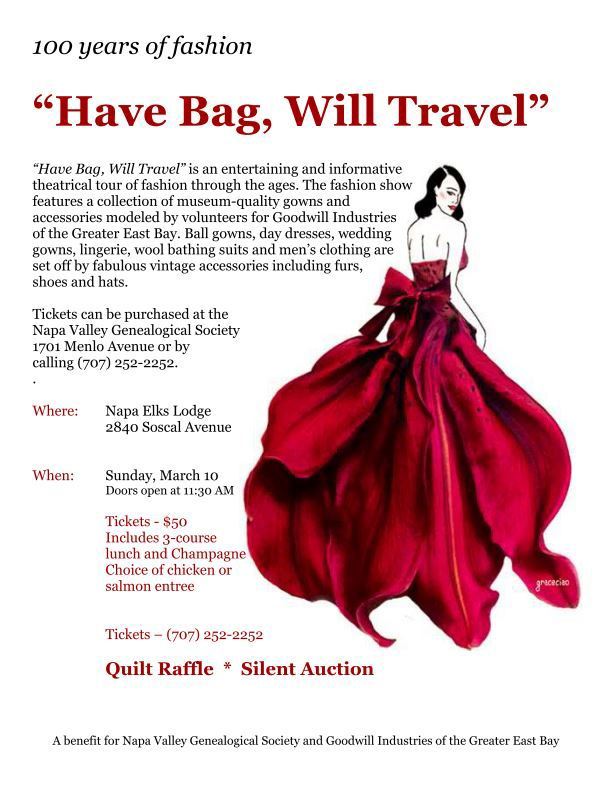 Have Bag, Will Travel - Vintage Fashion Show Fundraiser