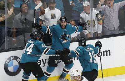 San Jose scores 4 goals in 4 minutes, then wins Game 7 in OT