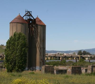 Cement factory silos Watson Ranch development