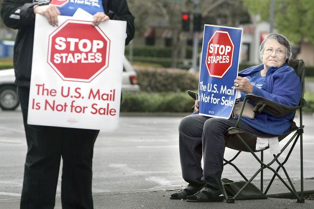 Staples Postal Protest