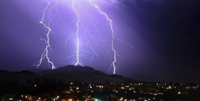 California lightning storm