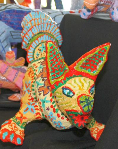 Paper mache' animals at Dia de los Muertos