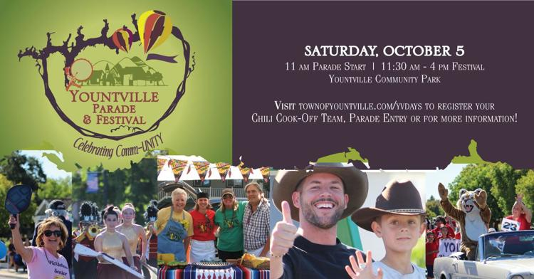 Yountville Parade, Festival & Chili Cook Off