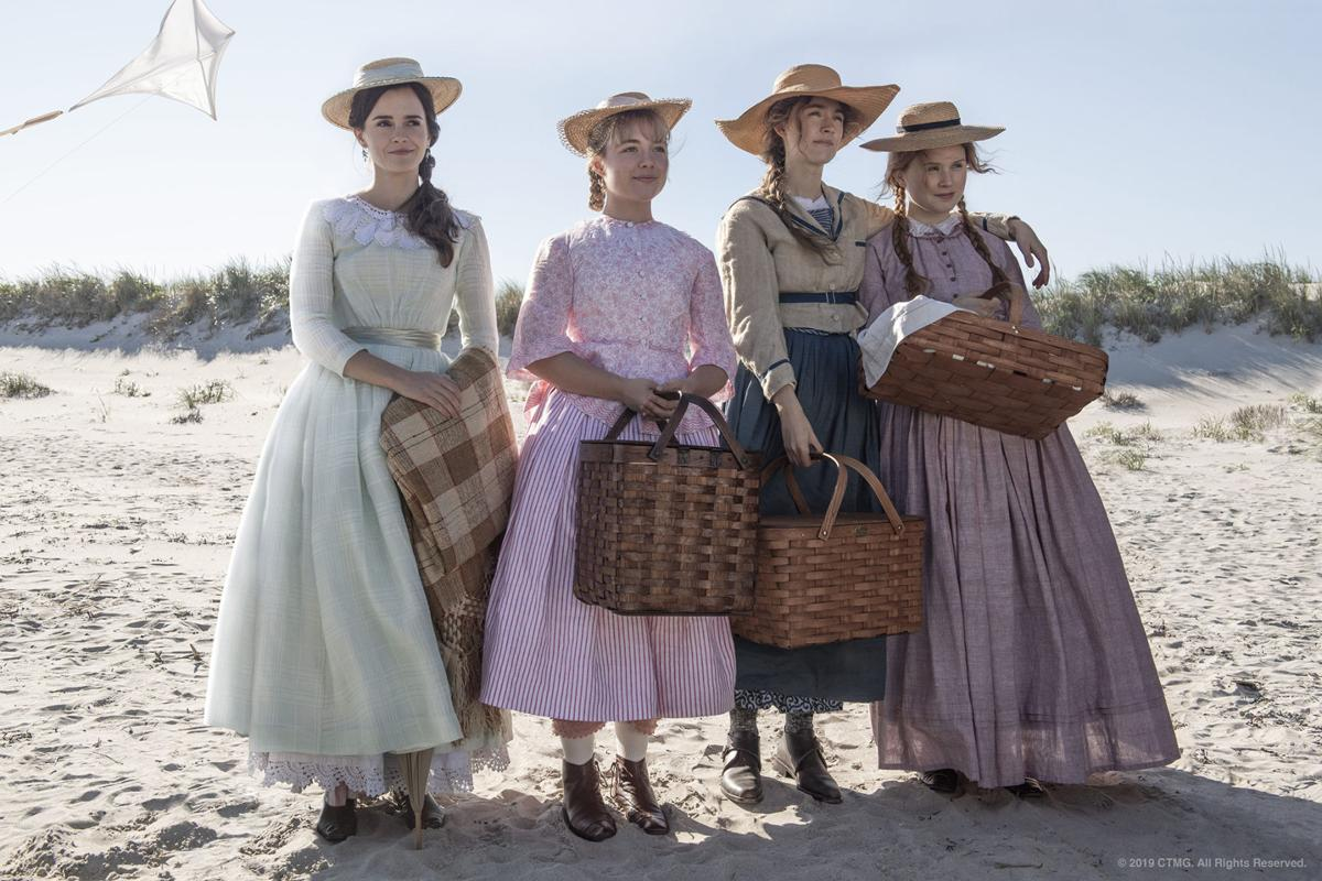 "Crane Beach on Ipswich Bay in Massachusetts is where the seaside scenes in ""Little Women"" were filmed, such as this one featuring Emma Watson (from left), Florence Pugh, Saoirse Ronan and Eliza Scanlen as the March sisters."
