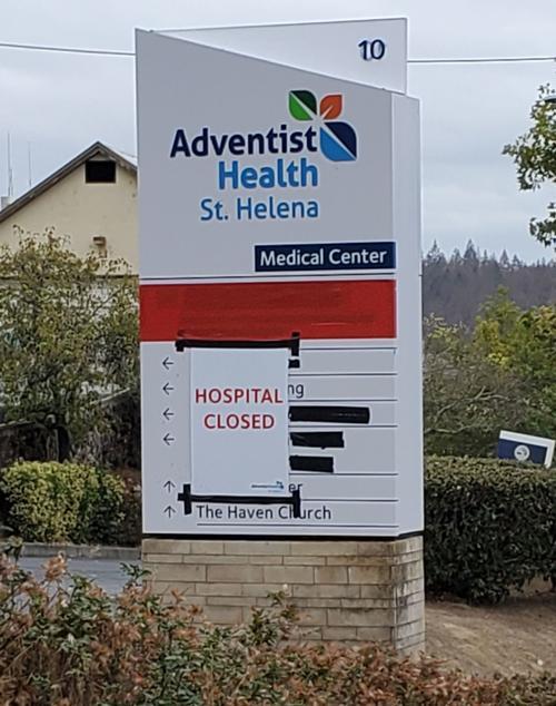 Adventist Health St. Helena closed