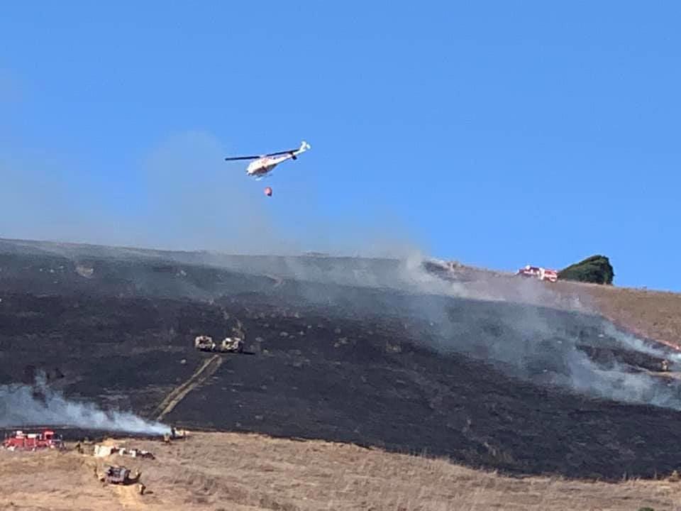 American Canyon grass fire