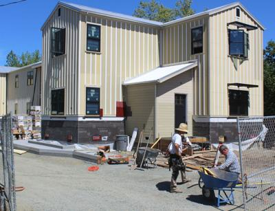 Construction on Joe McGrath's project on McCorkle Avenue