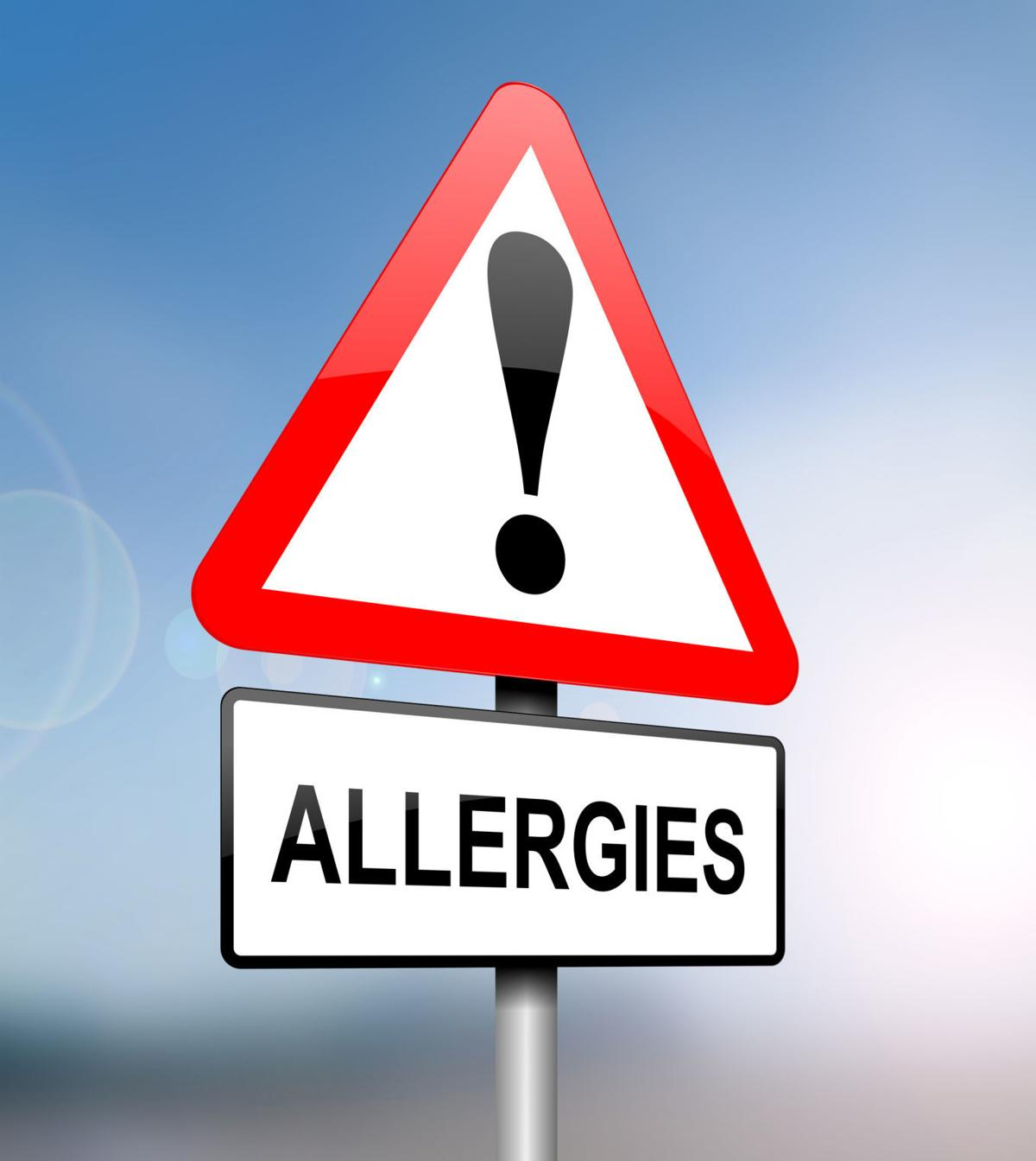 Allergies warning.